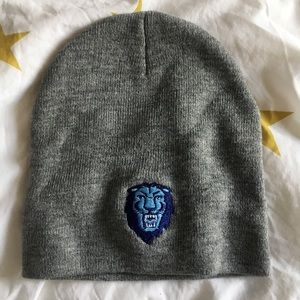 Accessories - 🆕 Columbia gray knit beanie with lion